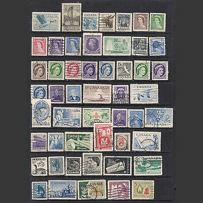 CANADA: small lot of old used stamps [4]