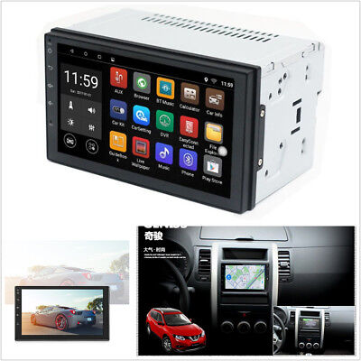 7'' Touch Screen 2-Din Car Wifi GPS Navigation Android 6.0 Bluetooth MP5 Player