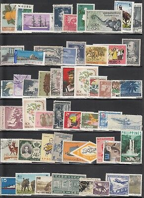 World Wide Mini Collection Of 115 Mint & Used Stamp Issues. Nice Selection.