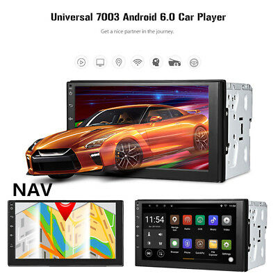 7''Android6.0 Car 2Din GPS Navigation Bluetooth Wifi Steering-Wheel Radio Player
