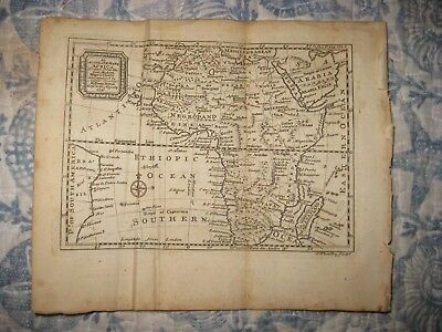 Antique 1747 Africa Copperplate Bowen Dated Map Negroland Hottentot Very Detaile