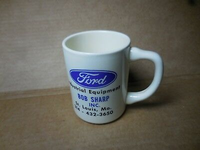 Vtg Ford Industrial Equipment Advertising Coffee Mug A-66 Loader St. Louis MO