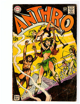 ANTHRO # 4 in FN- condition from DC comics 1969 Howie Post art
