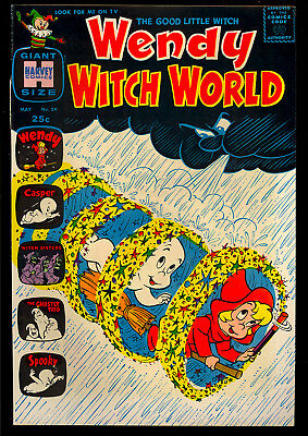 Wendy Witch World #24 High Grade Harvey File Copy Giant 1968 VF