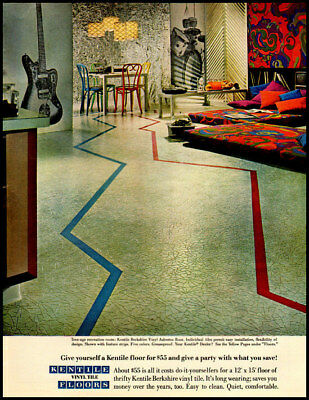 1960 vintage ad for Kentile Vinyl Tile Floors -1329