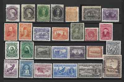 Canada 1860-1937(Newfoundland and Provinces)27 high value (!)mint* stamps and...