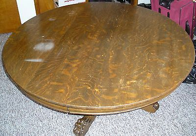 Antique Round Wooden (Oak) Dining Table (Made By Hastings Table Co Early 1900's
