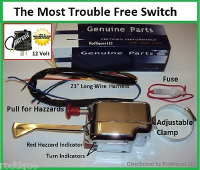 12 volt turn signal switch flasher + fuse clamps column fits antique  vehicles