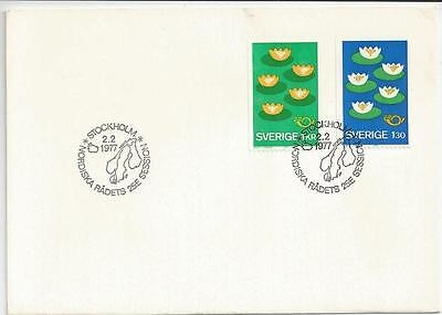 SWEDEN - 1977 The Nordic Countries     - FIRST DAY COVER