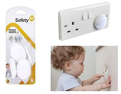 Baby Socket Inserts Electrical Uk Main Plug Cover Security Guard 6pk Safety 1st