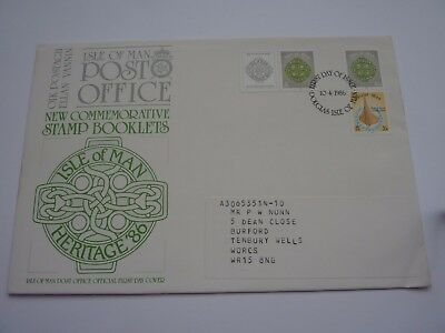 IOM Stamp Booklets 1986 FDC