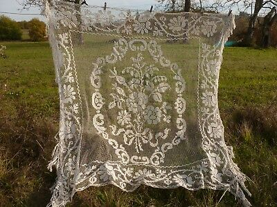 Antique French Hand Worked Bed Spread  / Counterpane / Coverlet