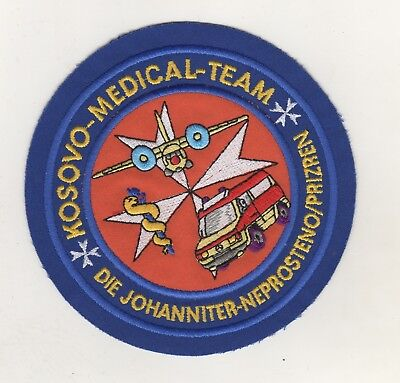 Uniform Aufnäher Patches Kosovo Medical Team Johanniter Neprosteno / Prizren