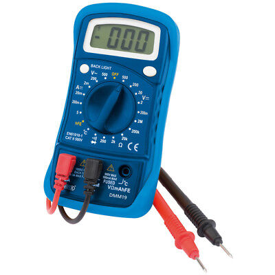Draper Electricians Digital Multimeter (19 Function) with Test Probes & Battery