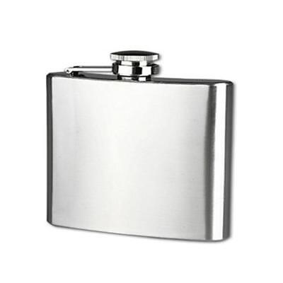 New 5 oz Stainless Steel Pocket Hip Flask Alcohol Whiskey Liquor Screw Cap Cup