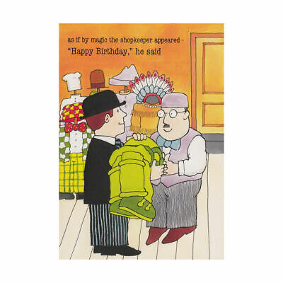 Unique vintage retro greetings card welsh caravan wales nostalgia mr benn as if by magic shopkeeper greeting card retro blank gift birthday tv m4hsunfo Images