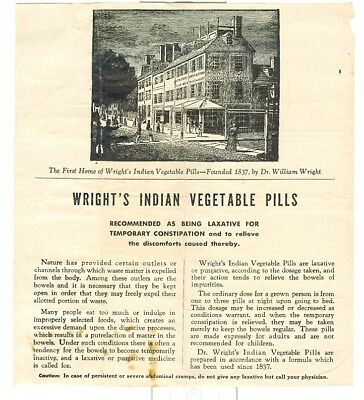 Vintage Wright's Indian Vegetable Pills