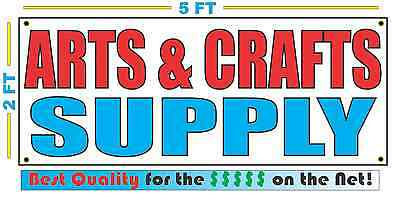 ARTS & CRAFTS SUPPLY Banner Sign NEW Larger Size Best Quality for the $$$