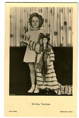 Shirley Temple vint with large doll Ross Verlag Photo Postcard