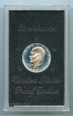 1971 S ~ $1 Eisenhower 40% Silver Dollar ~ Proof ~ (No Box)