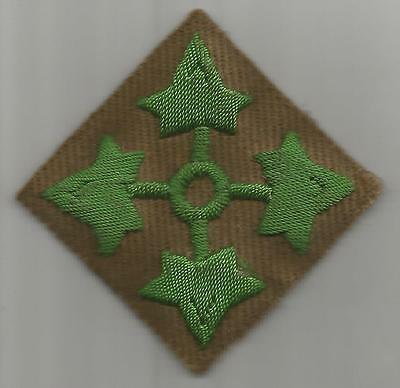 Theater Made Bullion US Army 4th Infantry Division Patch Inv# H434