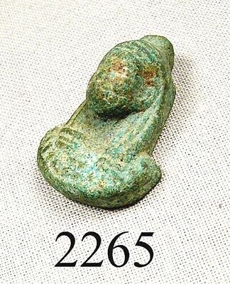 EGYPTIAN FAIENCE TALISMAN or pendant - LATE PERIOD - ca. 600 BC, 2,600 yrs old