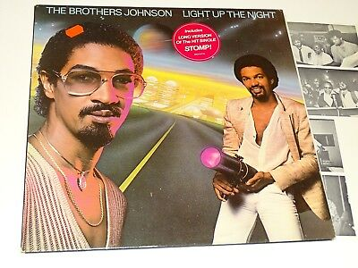 Brothers Johnson Nm Lp Light Up The Night Stomp Foc |20