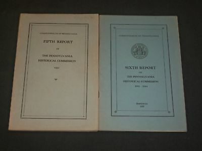 1931-1937 Pennsylvania Historical Commission Reports Lot Of 2 - St 5249