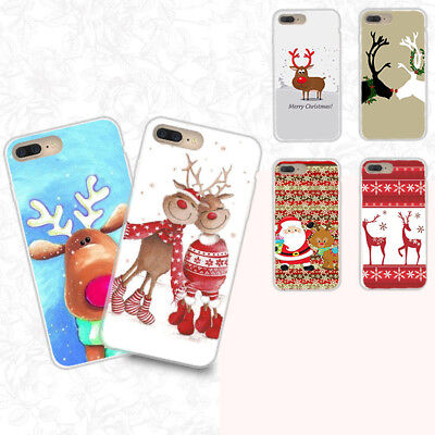 Merry Xmas Christmas Ultra Slim Rubber Soft TPU Silicone Back Case Cover Bumper