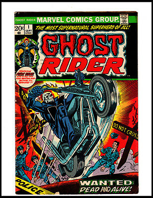 1973 Marvel Ghost Rider #1 First Monthly Solo Series 1St App Son Of Satan
