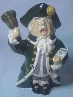"Roy Kirkham TOWN CRIER Staffordshire 6.75"" Toby / Character Jug 17cm - 5 Photos"
