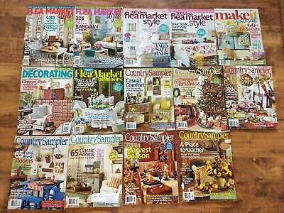LOT 14 Make it Yourself FLEA MARKET STYLE Decorating COUNTRY SAMPLER christmas