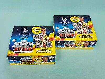 Topps Match Attax Champions League  2017/2018 2 x Display / 48 Booster 17/18