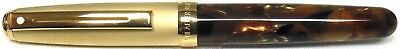 Sheaffer Prelude Compact Ballpoint Pen, Amber & Brushed Gold, USA Made, New