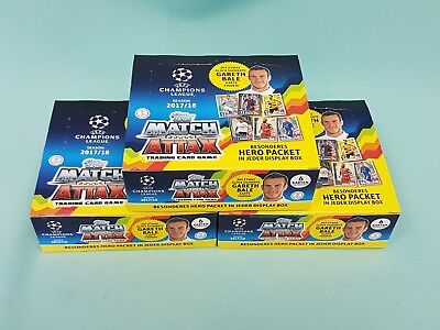 Topps Match Attax Champions League  2017/2018 3 x Display / 72 Booster 17/18