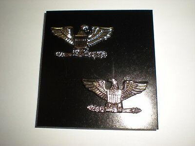Us Army/ Usaf Colonel Rank - Full Size - Anodized - 1 Pair