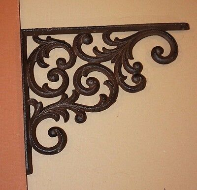 Cast Iron Vintage Look Corbels, Elegant Country Design, Swirl, Shelving, B-23