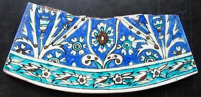 TH3153 Turkey Ottoman Islamic Iznik Kutahya Tile 19th Century