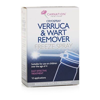 Carnation Cryospray Verruca and Wart Remover Freeze Spray Easy Use Works Rapidly