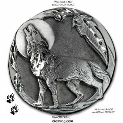 MOON SHADOW WOLF PIN for MALE ~ FEMALE WOLVES WILDLIFE ART JEWELRY FREE SHIP #P*
