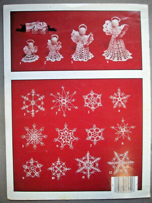 Christmas snowflakes 12 designs and Angels 4 sizes  crochet pattern