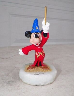 "Vintage 2005 Ron Lee Mickey Mouse Fantasia Figure Ap 5"" Tall"
