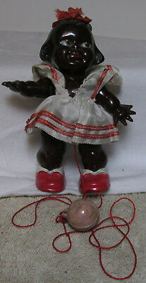 Vintage Black Americana Doll With Ball !!!