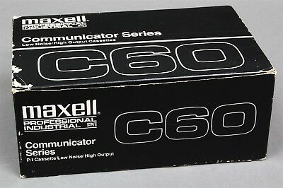 10 Maxell Professional P/i Communicator Series C60 Cassette Tapes Sealed New