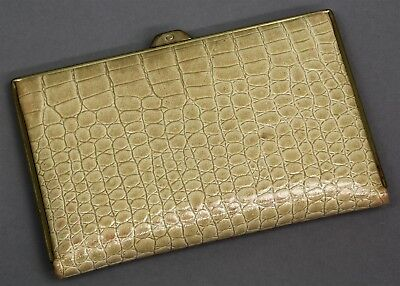 Vintage SAKS FIFTH AVENUE CROCODILE WALLET COIN PURSE WALLET Made WEST GERMANY