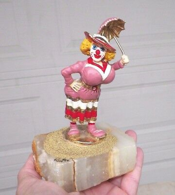 "Vintage 1986 Ron Lee Big Breasted Woman Pink Clown 6"" Tall 3 3/4"" Wide"