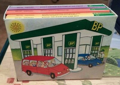 Complete Set 6 Books 1990 BP British Petroleum Winnie the Pooh w/ Box Dutton jl