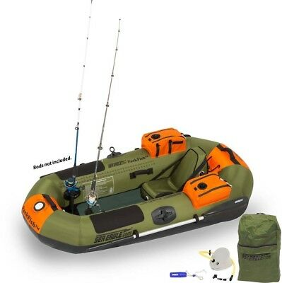 Sea Eagle PF7 PackFish7 1 Person Inflatable Fishing Boat - Pro Package
