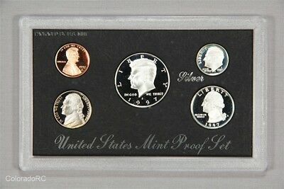 1997 United States Mint Silver Proof Coin Set in Original Mint Packaging w/ COA