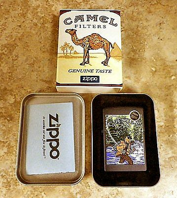 1998 Joe Camel Fishing Zippo Lighter